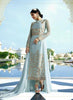 Anarkali Style Blue Color with Embroidery Work Wonderful Unstitched Salwar Kameez