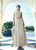 Anarkali Style White Georgette Incredible Salwar Kameez