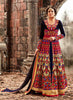 Achkan Style Incredible Salwar Kameez in Blue & Velvet Fabric