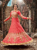 Pure Silk Red Incredible Unstitched Salwar Kameez