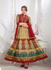 Anarkali Style Beige with Printed Work Incredible Unstitched Salwar Kameez