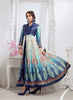 Achkan Style Blue with Printed Work Incredible Unstitched Salwar Kameez