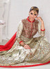 Anarkali Style White Color with Printed Work Incredible Unstitched Salwar Kameez