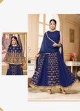 Anarkali Style Wonderful Salwar Kameez in Blue & Georgette Fabric