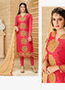 Straight Cut Style Wonderful Salwar Kameez in Red & Georgette Fabric