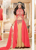 Achkan Style Incredible Salwar Kameez in Pink & Silk Fabric