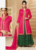 Achkan Style Incredible Salwar Kameez in Pink & Cotton Fabric