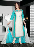Lace & Embroidery White Color Lovely Salwar Kameez