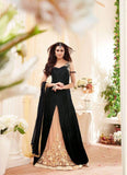 Net & Georgette Fabric with Embroidery Work Incredible Unstitched Salwar Kameez