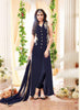 Achkan Style Blue Color with Embroidery Work Astounding Unstitched Salwar Kameez