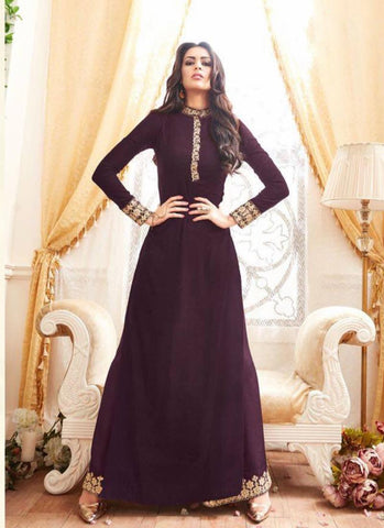 Straight Cut Style Maroon Color with Embroidery Work Astounding Unstitched Salwar Kameez