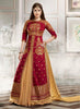 Anarkali Style Incredible Salwar Kameez in Red & Silk Fabric