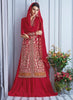 Red Color Georgette Astounding Salwar Kameez in Achkan Style