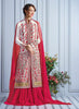 Achkan Style White Color with Embroidery Work Incredible Unstitched Salwar Kameez