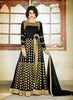 Achkan Style Black with Sequins Work Astounding Unstitched Salwar Kameez