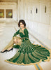 Achkan Style Green Color with Sequins Work Incredible Unstitched Salwar Kameez