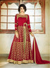 Achkan Style Red with Sequins Work Astounding Unstitched Salwar Kameez