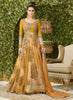 Anarkali Style Yellow with Embroidery Work Incredible Unstitched Salwar Kameez