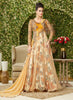 Anarkali Style Yellow with Printed Work Incredible Unstitched Salwar Kameez