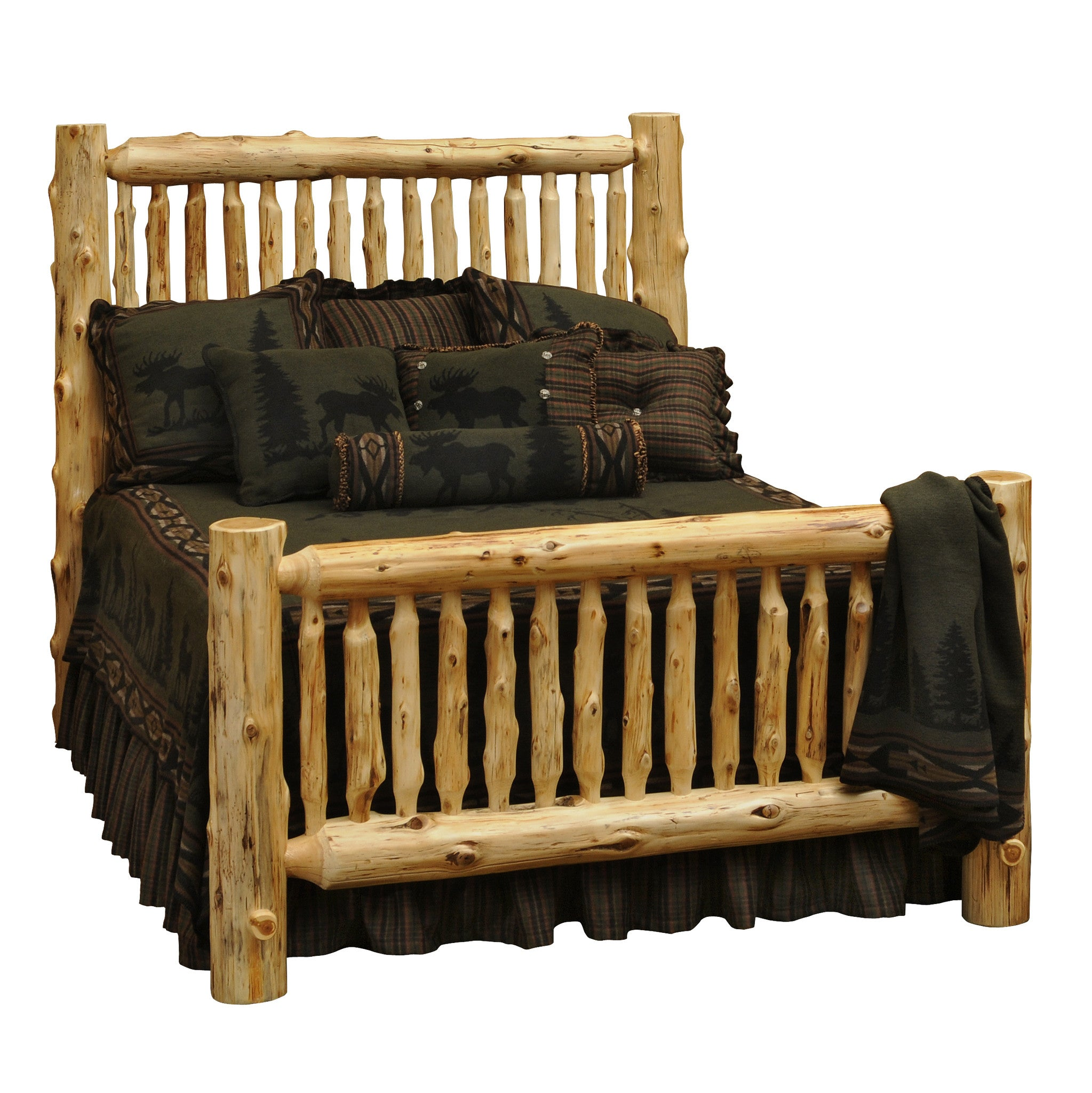 wv frontier img amish rustic frame bed in log queen size traditions