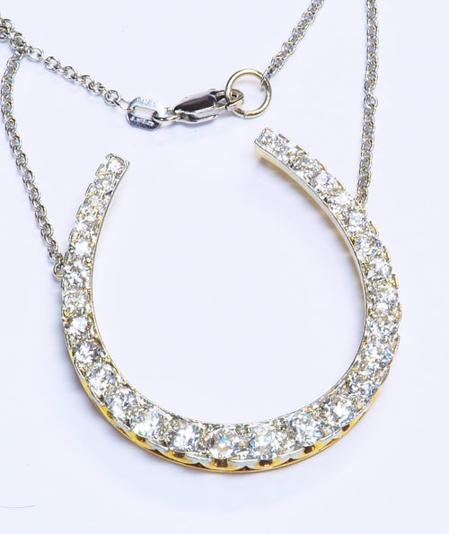 Georgious Antique Diamond Horse Shoe Pendant