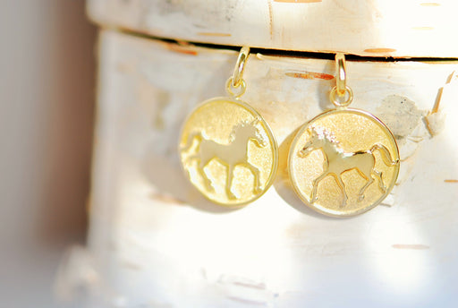 15k Gold Thoroughbred Earrings