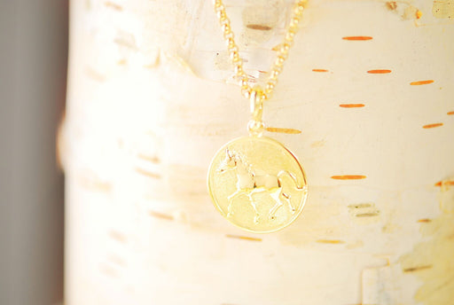 15k Gold Thoroughbred Pendant
