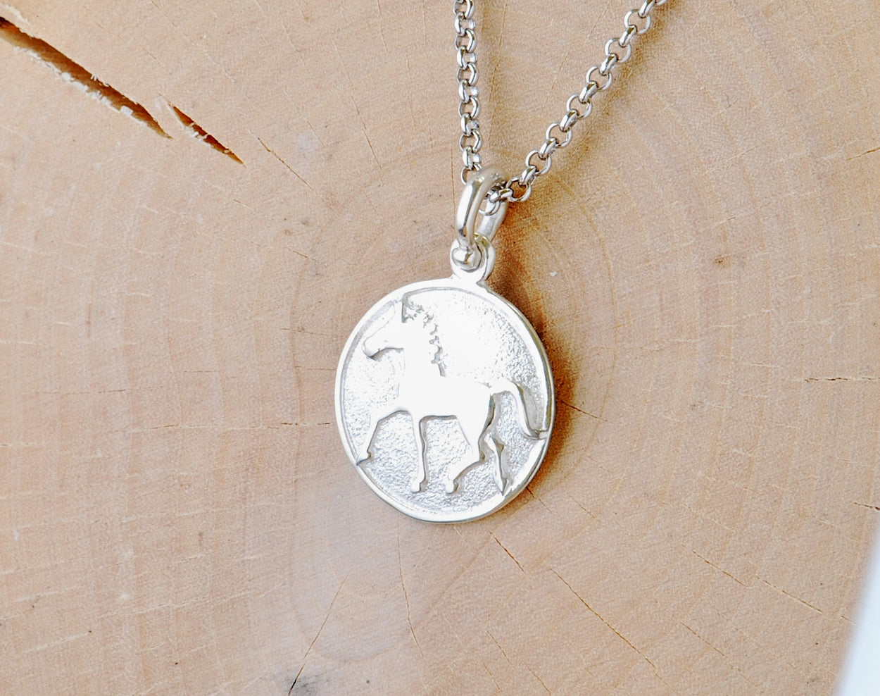 Silver Thoroughbred Pendant