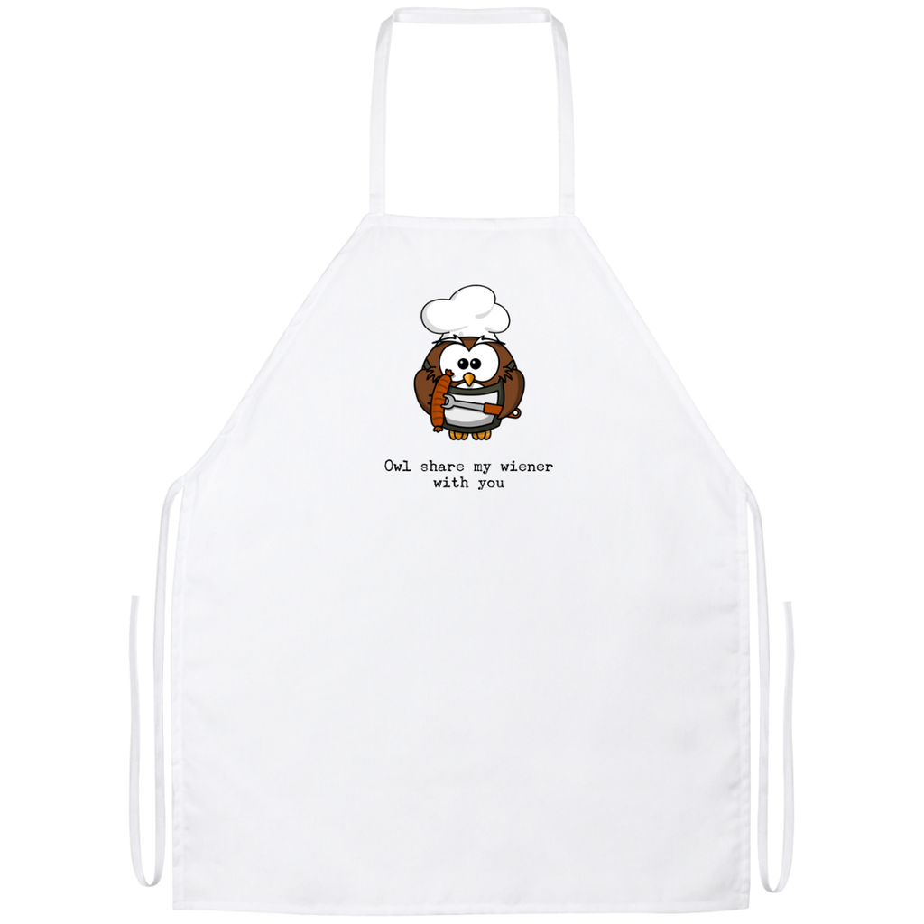 Owl Share My Wiener With You Apron
