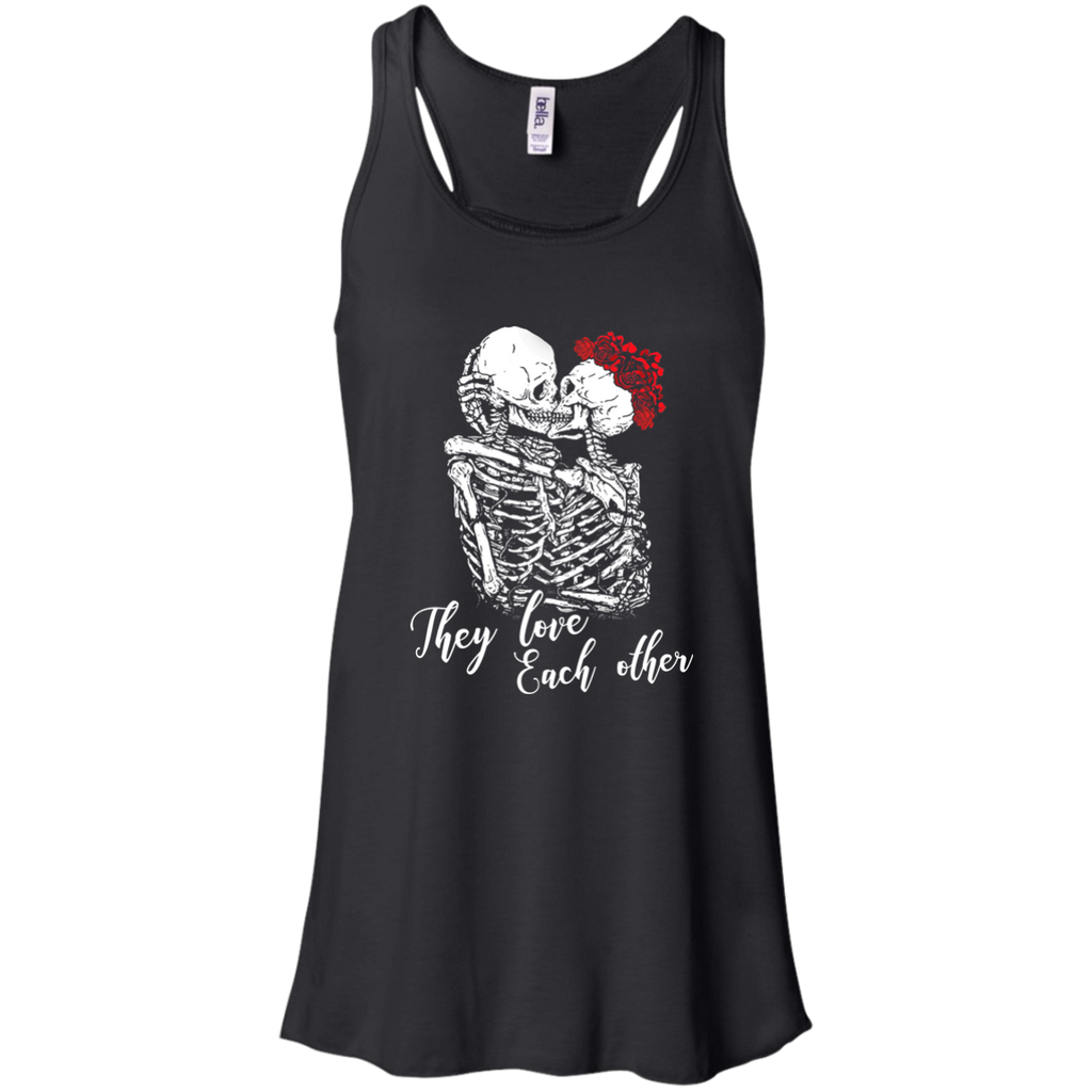 They Love Each Other Flowy Racerback Tank