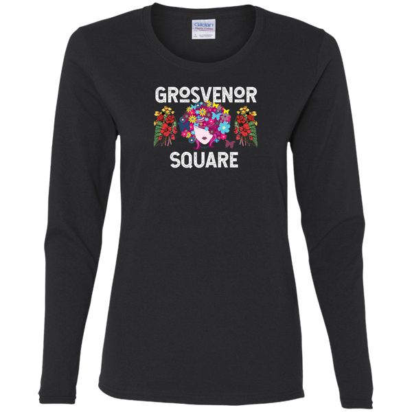 Grosvenor Square Scarlet  Ladies' Cotton Long Sleeves T-Shirt