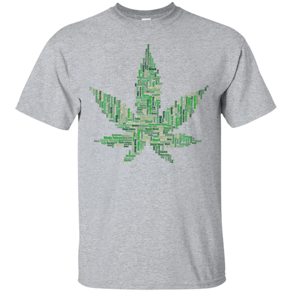 Marijuana Word Cloud Cotton T-Shirt