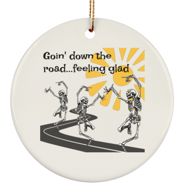 Going Down The Road Circle Tree Ornament