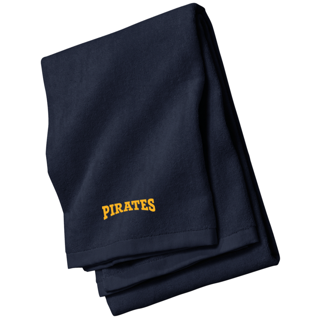 Pirates Embroidered Beach Towel