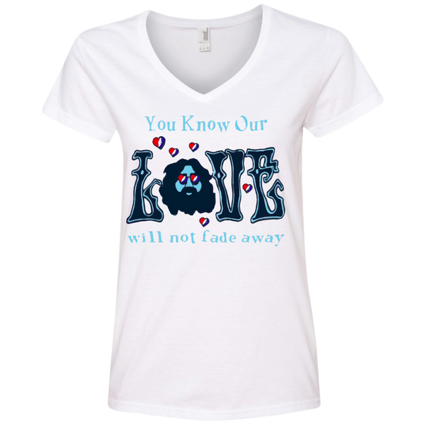 Love Not Fade Away Ultra Ladies' V-Neck T-Shirt