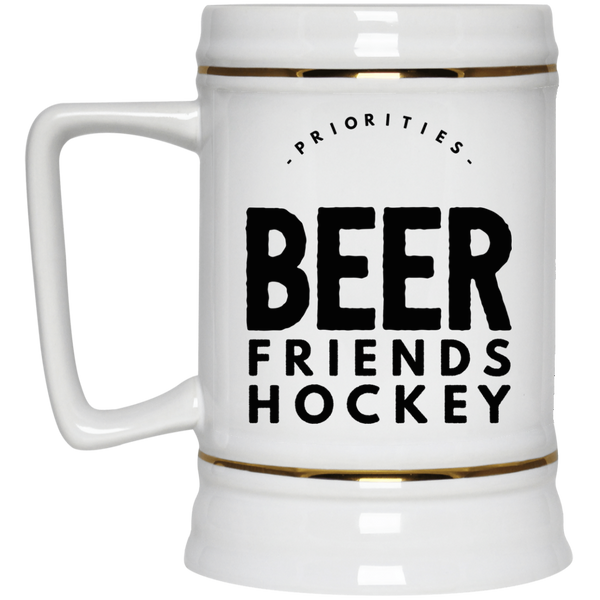 Beer Friends Hockey Beer Stein 22oz.