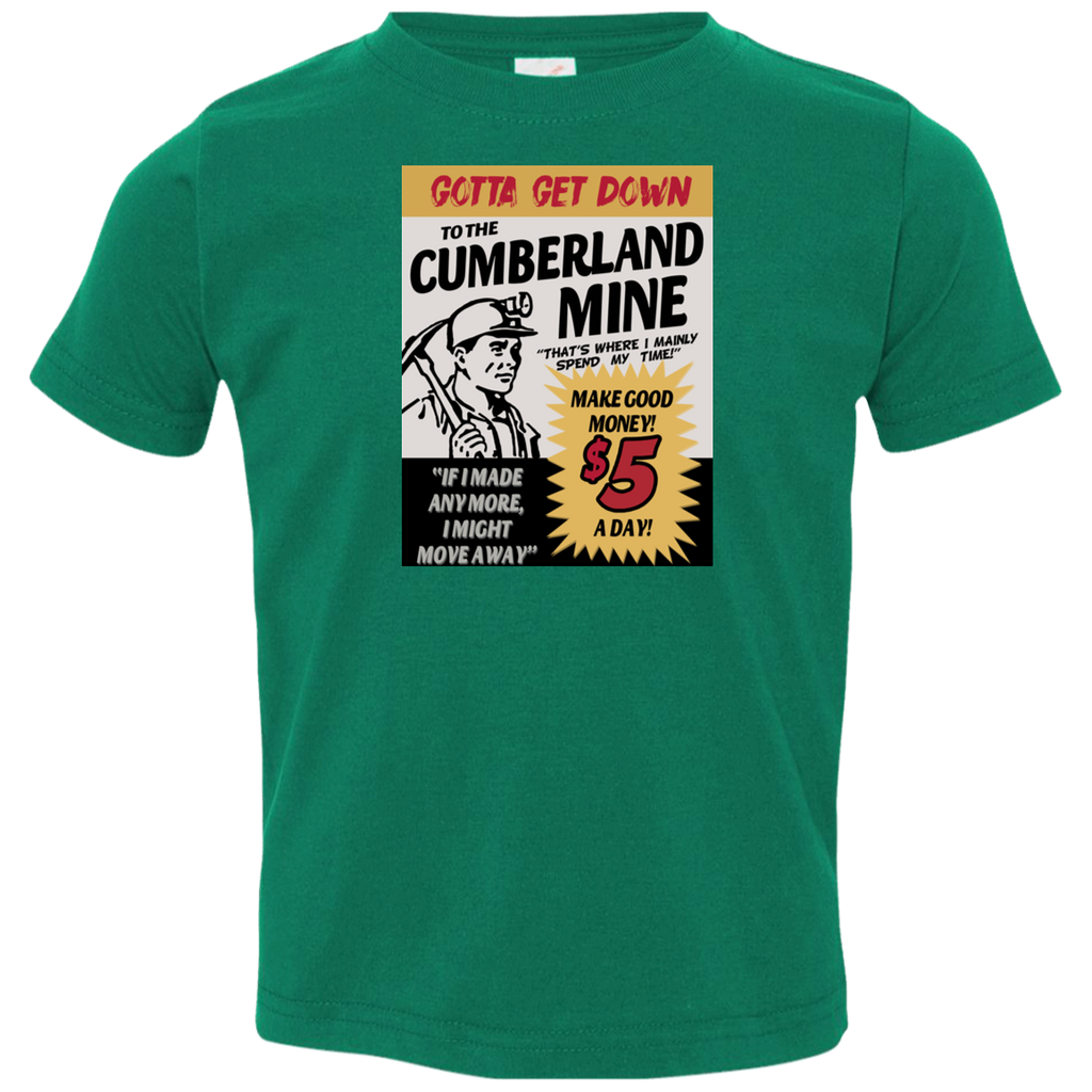 Cumberland Mine Toddler Jersey T-Shirt