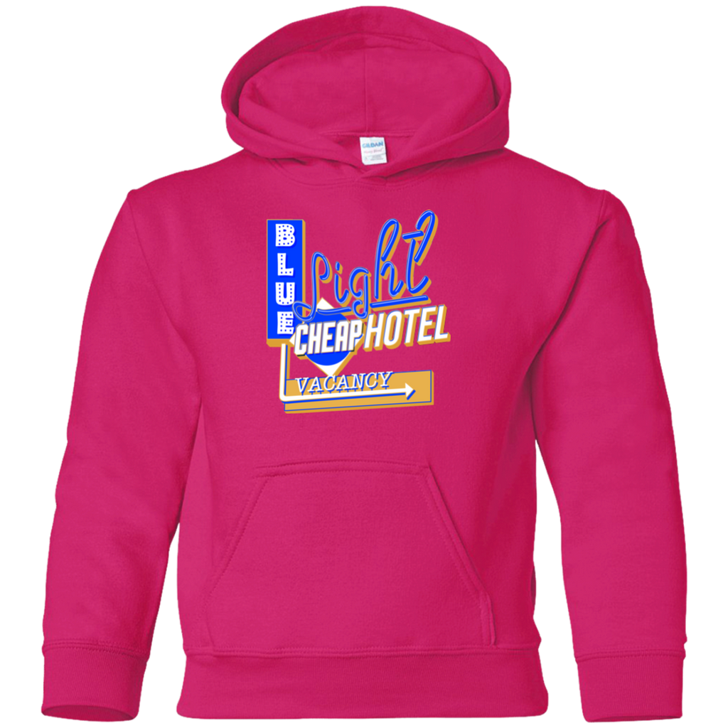 Blue Light Cheap Hotel Youth Pullover Hoodie