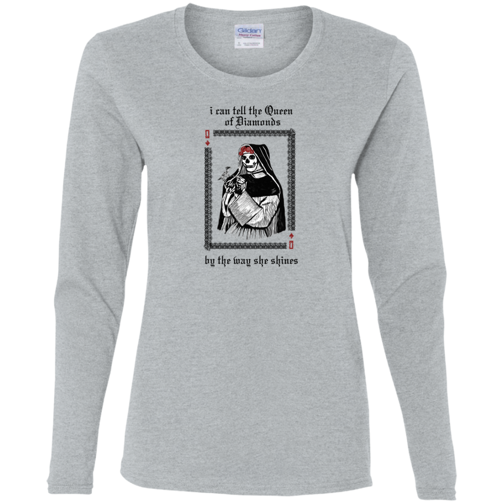 Queen Of Diamonds Ladies' Cotton Long Sleeves T-Shirt