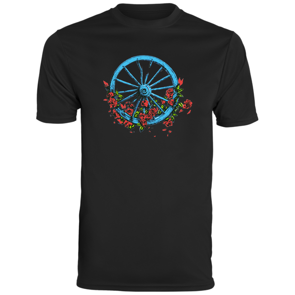 Wheel Roses Men's Wicking T-Shirt