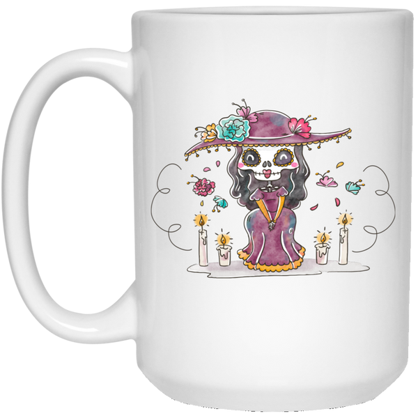 Day of the Dead Sweetheart 15 oz. Mug