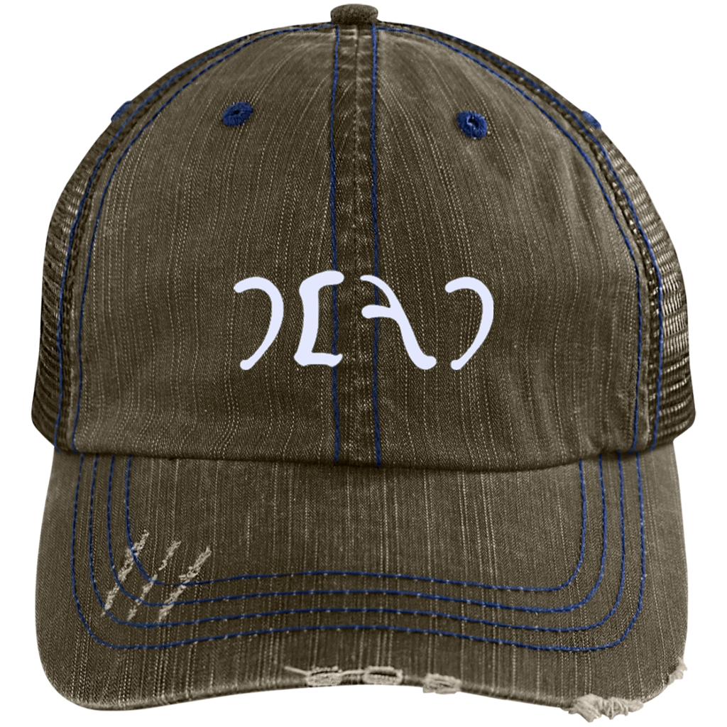 Egypt Dead Distressed Embroidered Trucker Cap