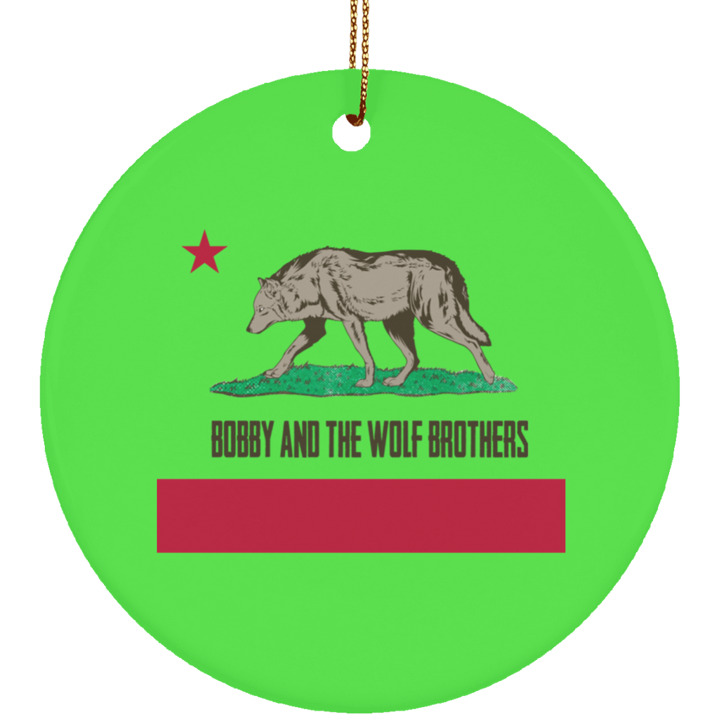 Bobby Wolf Brothers Circle Tree Ornament