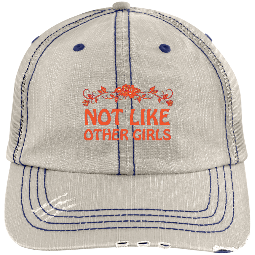Not Like Other Girls Distressed Trucker Cap