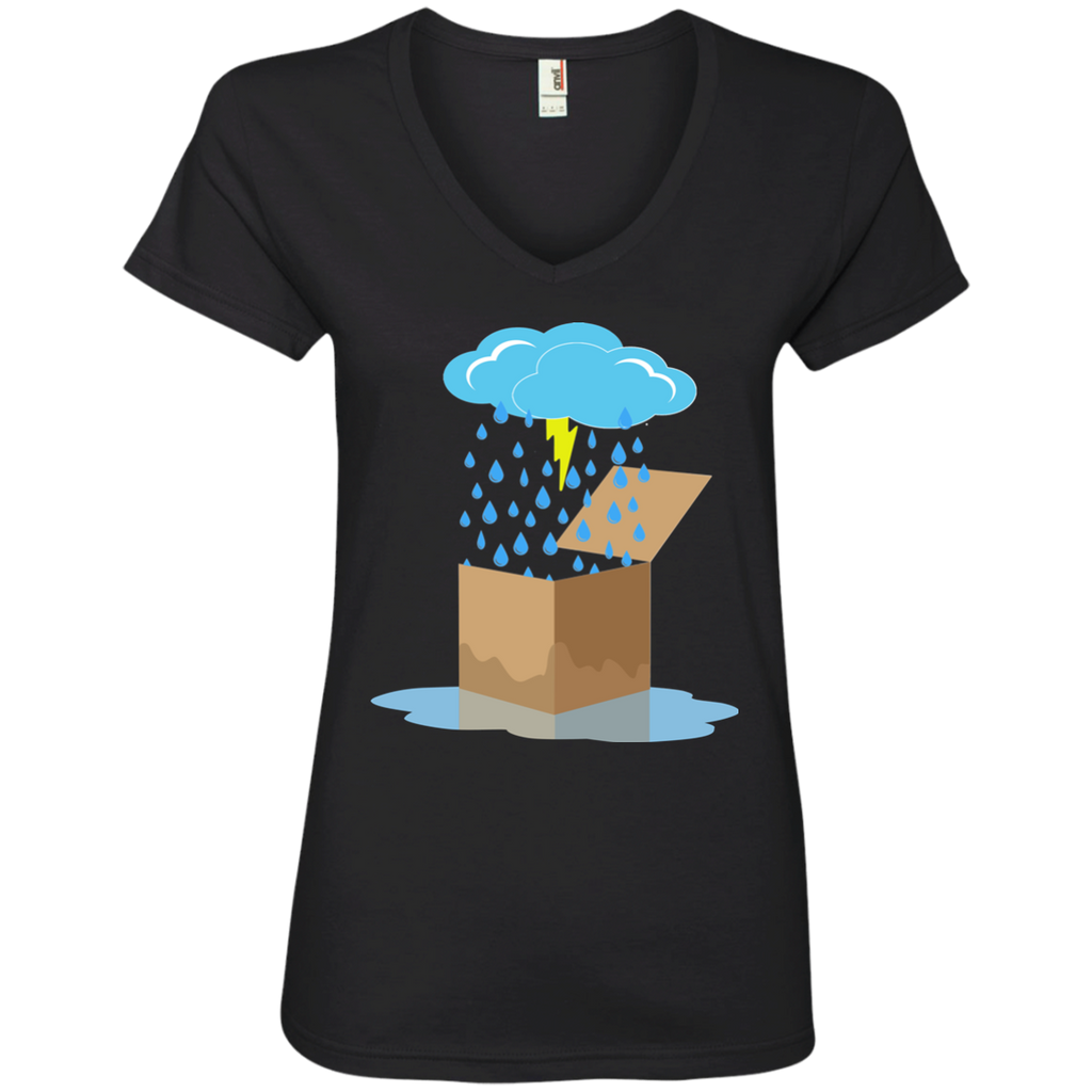 Rain Box Ladies V-Neck T-Shirt