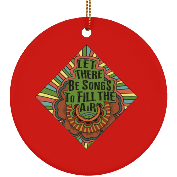 Let There Be Songs Ceramic Circle Tree Ornament