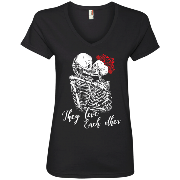 They Love Each Other Ladies V-Neck T-Shirt