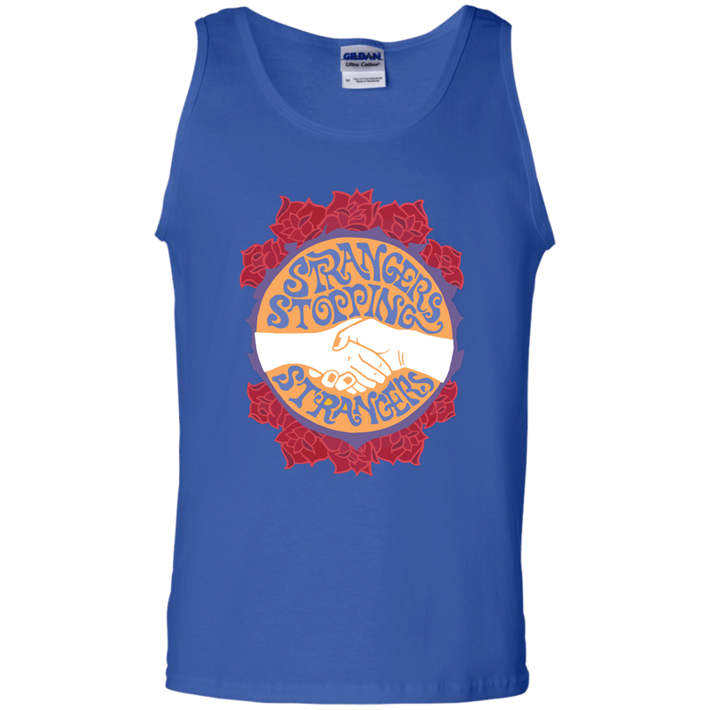 Stranger Stopping Strangers 100% Cotton Tank Top