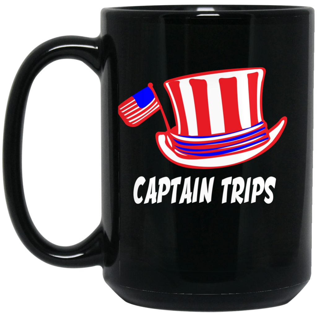 Captain Trips 15 oz. Black Mug