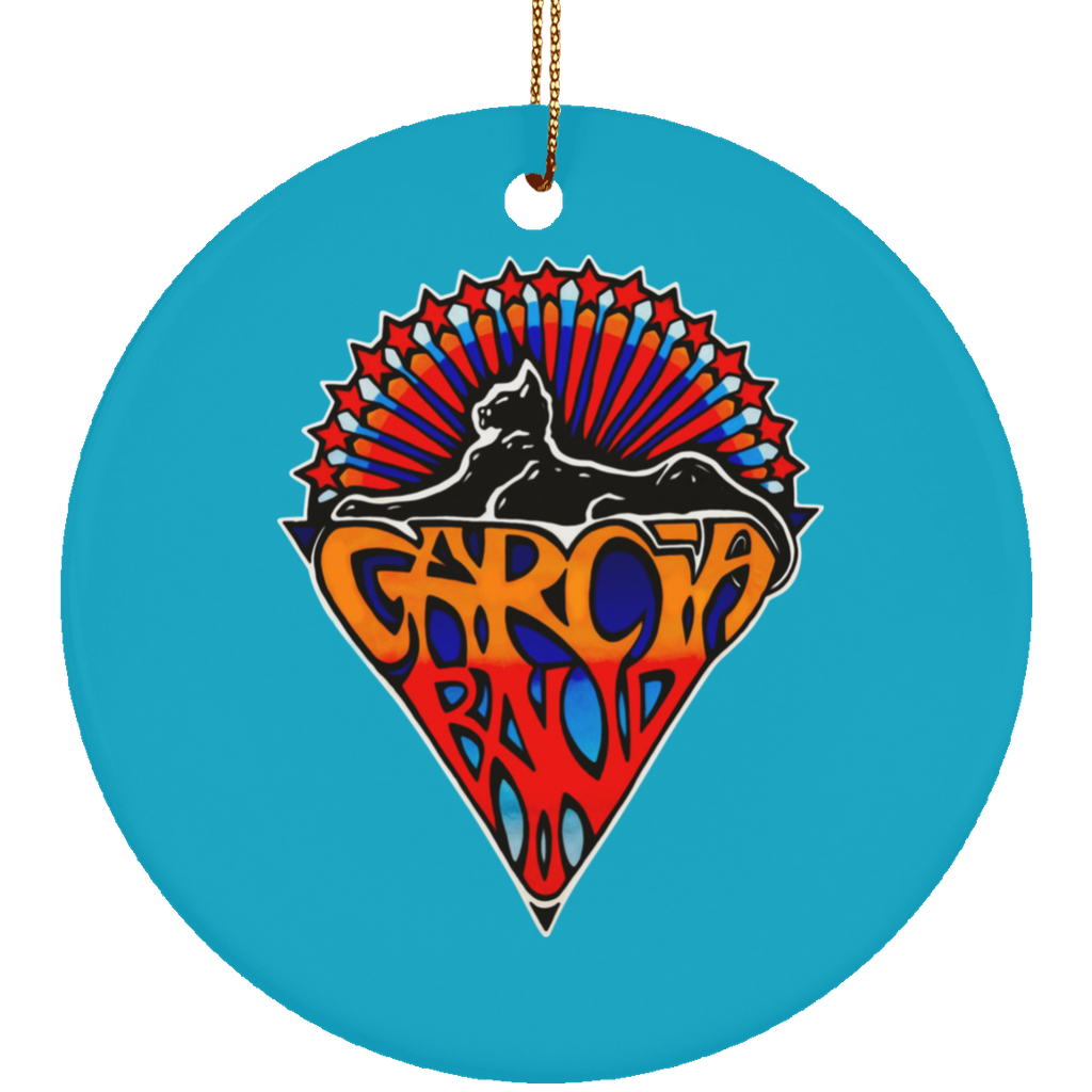 Garcia Band Cat Circle Tree Ornament